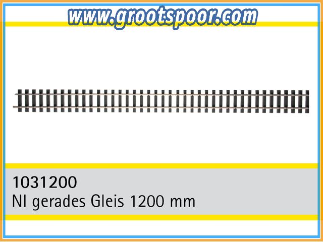 TRAINLINE45 1031200-5 Nickel gerades Gleis 1200mm 5 Stück