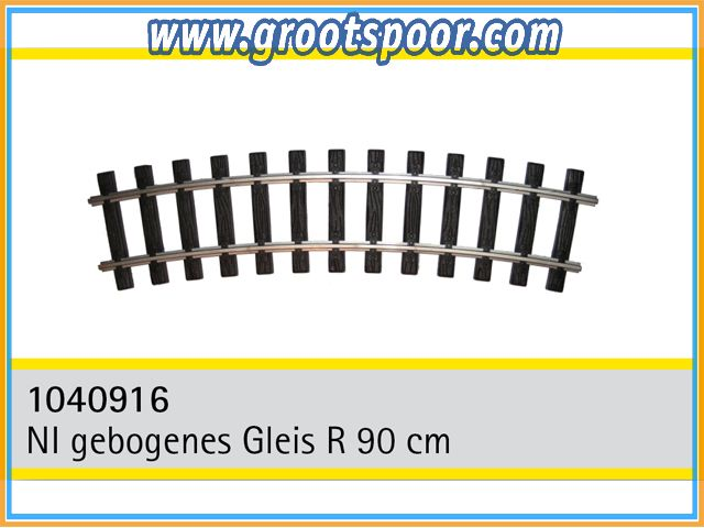 TRAINLINE45 1040916-8 Nickel gebogenes Gleis R 90cm 8 Stück