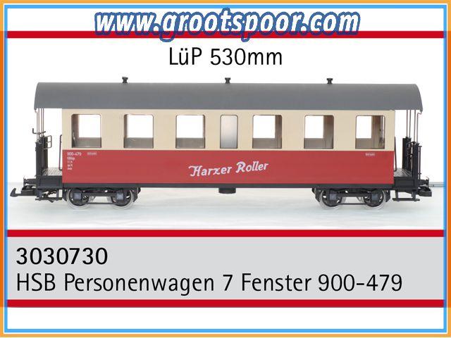 TRAINLINE45 3030730 HSB Personenwagen 7 Fenster 900-479