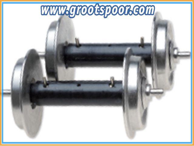 TRAINLINE45 3067105 1 Paar Kugellagerachsen stromführend für Piko G Wagen