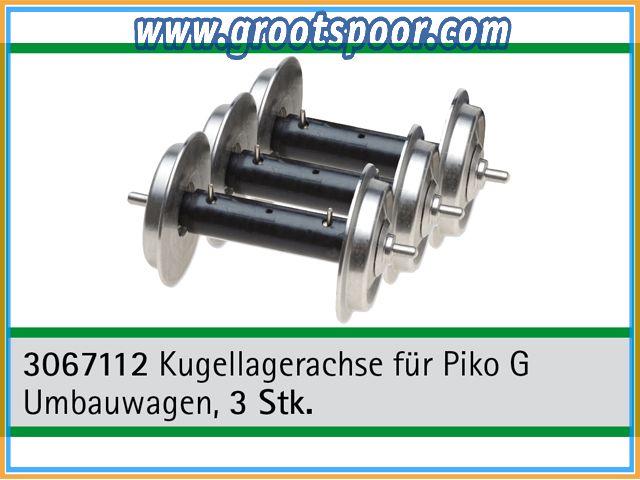 TRAINLINE45 3067112 Kugellagerachse 3 Stück für Piko G Umbauwagen