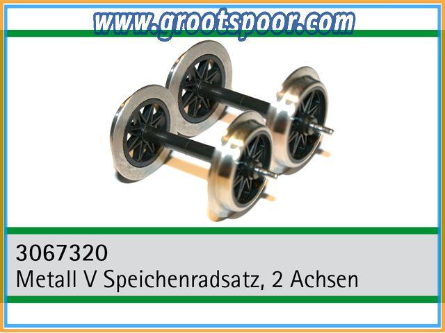 TRAINLINE45 3067320 Metall V Speichenradsatz ohne Stromführung