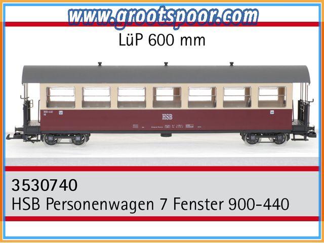 TRAINLINE45 3530740 HSB Personenwagen 7 Fenster 900-440