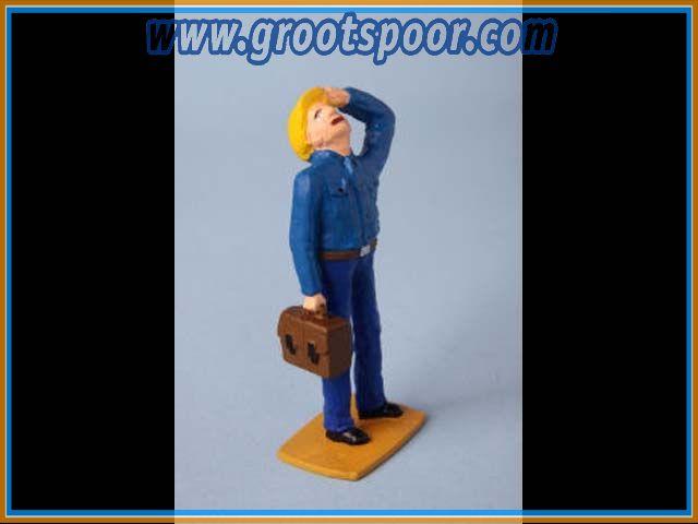 ZinnBlei Gartenbahnfiguren 2011028 Elktriker mit Tasche nach oben sehend