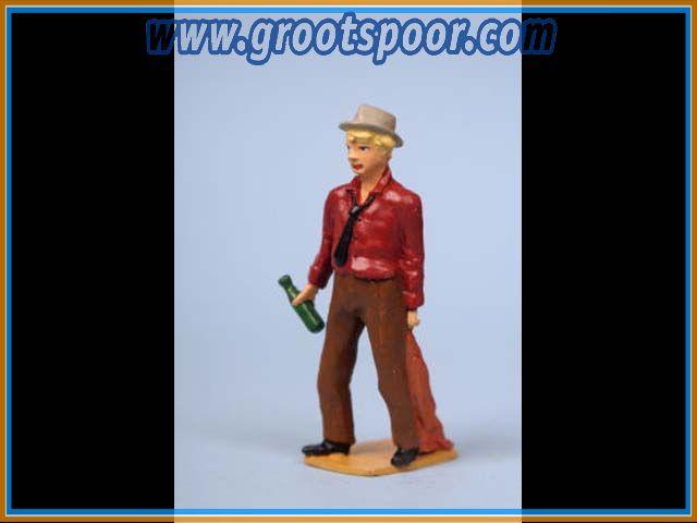 ZinnBlei Gartenbahnfiguren 2011035 Betrunkener mit Jacke