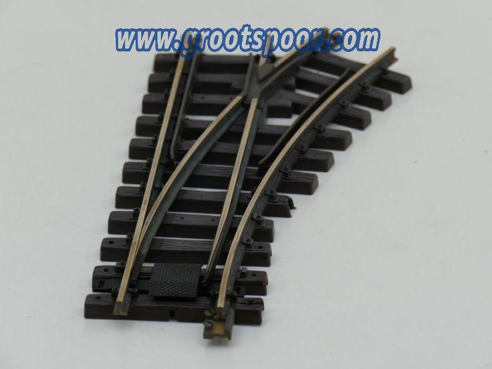 LGB 12000 Handweiche rechts,R1,30 Grad  Zonder aandrijving met schroefbare railverbinders