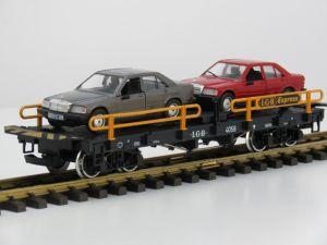 LGB 4059 Auto transportwagon, Metallrader