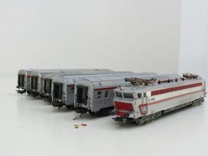 Schaal H0 Lima T,E,E, - set Loc SNCF CC 40101 + 2 rijtuigen + Jouef rijtuigen 864-865 en bagagerijtuig #92