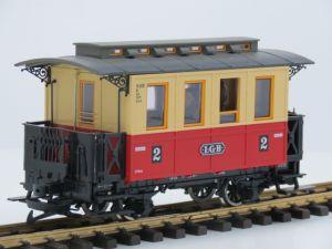 LGB 30110 Personenwagen, Metallrader, 4 figuren