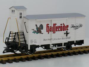 LGB 47260 Hasseröder-Bierwagen, Vitrinemodel, Metallrader