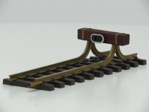 Stootblok Kleinserie met houten balk en buffer